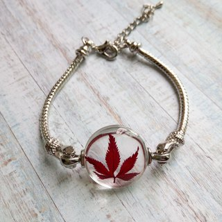 Real flower bracelet, gift for woman, real plant jewelry