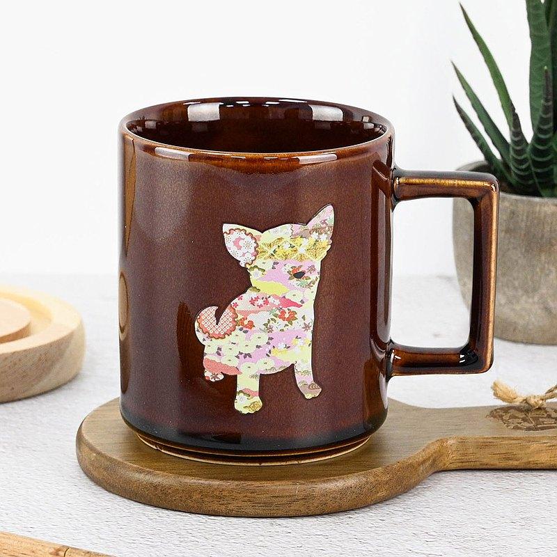日本溫感小狗變色馬克杯 吉娃娃-糖棕 冬季必備