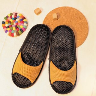 AC RABBIT low-pressure indoor air cushion slippers - exposed toe section - yellow comfortable decompression original / sp-1207T-Mcp
