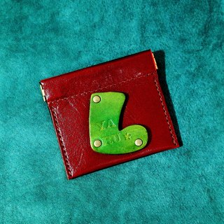 Xmas Leather Coin Purse (11 colors / engraving service)