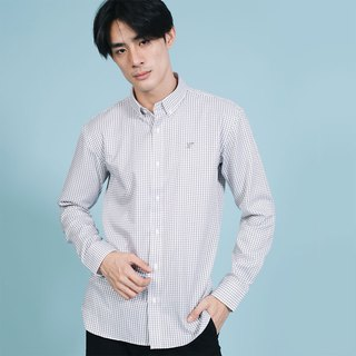 (SIZE S) PREMIUM // white grey check // men slim fit