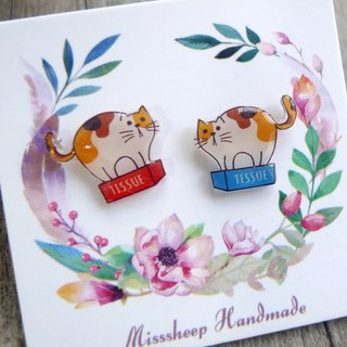 Misssheep-U57 Cute Tray Kitty (ear pin / transparent ear clip)
