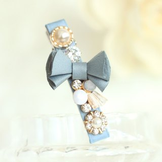 Retro Folded Ribbon Hair Clip