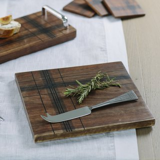 British Selbrae House Indian Square Oil Wood Plaid Insulation Pad / Chopping Board / Board / Display Board
