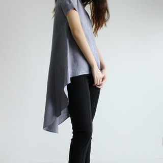 made to order linen blouse / clothing / casual / top / women /natural top E 26T