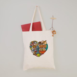 Alvin - Taipei impression canvas tote bag