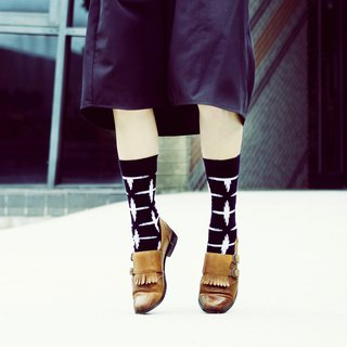 Women's Socks - City Cross - British Design for Stylish Ladies