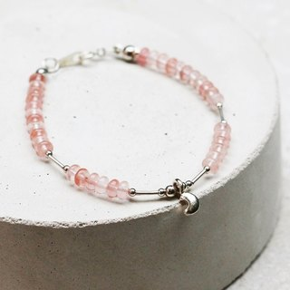 <Love of the Milky Way - Moonlight> Watermelon Red Crystal 925 Sterling Silver Bracelet Light Jewelry Custom Valentine's Day