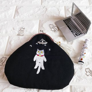 Embroidered cookie grilled cat catch UFO cat