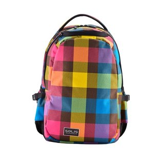"SOLIS [ Mosaic Series ] 13"" Ultra+ basic laptop backpack(modern colourful)"