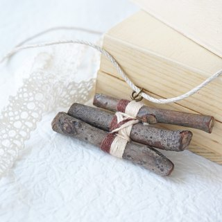 Upcycling, Eco, Natural, tree branches, wood necklace  - Natural wood colour