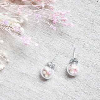 Tangyuan / Stainless Steel / Glass Dome Earrings
