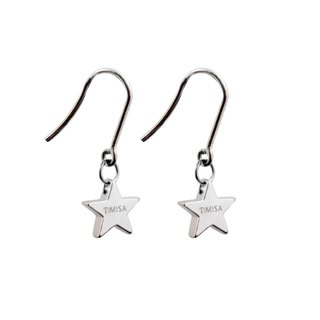 Mini Lucky Star (S) Pure Titanium Earrings A pair