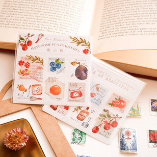 Watercolor Stamp Sticker Set - Kitchen Accessories WT-030