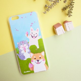 Chai Chai have a picnic with friends phone case