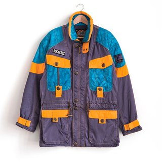 Vintage hit color stitching ski coat vintage jacket