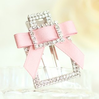 Rhinestones Buckle Square Shape Hair Clip