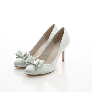 [APRIL] green lake satin wedding shoes, wedding, bridal white, non-waterproof heels
