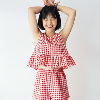 Gingham two piece co ord matching set 1