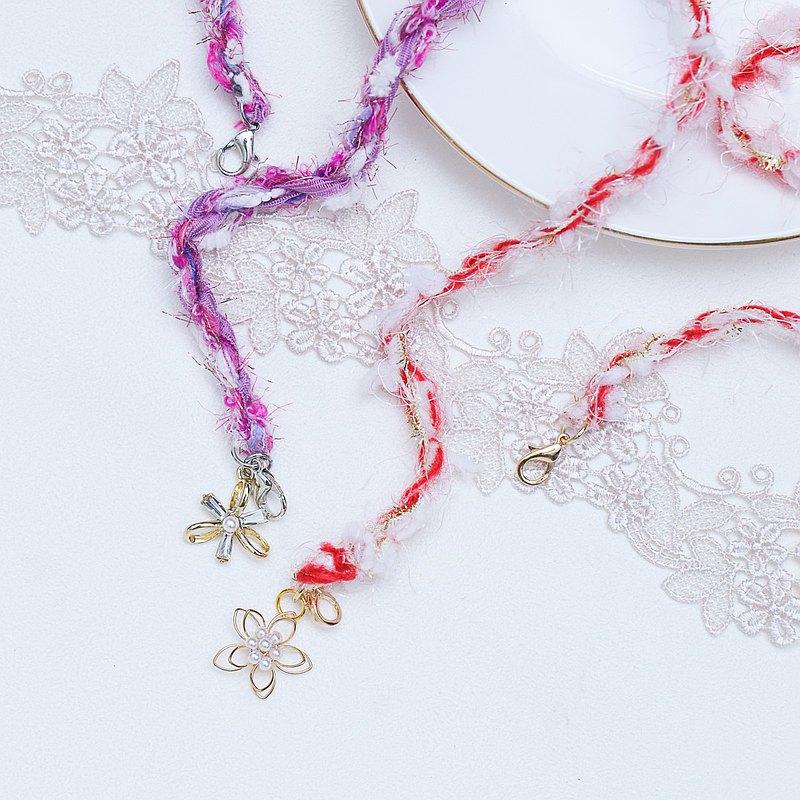 口罩掛繩 紫色心情 手工編織 日本混合紗線 口罩帶 口罩繩