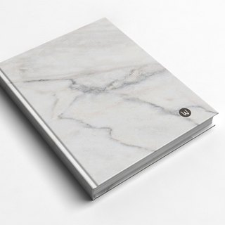Rococo Strawberry WELKIN Handmade _ handmade book / notebook / PDA / diary - marble