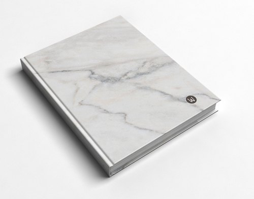 ☆ ° Rococo Strawberries WELKIN Handwork Handbook / Notebook / Hand / Diary - Marble