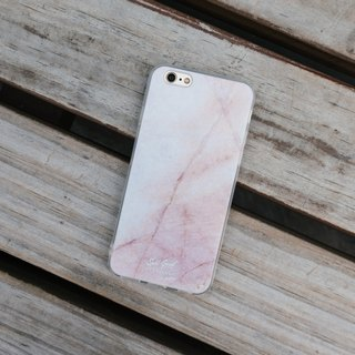 Original Light Pink Real Marble Phone case with hard shell back case