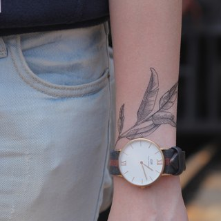 cottontatt leaves temporary tattoo sticker