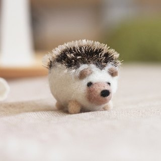 (With video teaching) Explosion head fat hedgehog wool felt key ring material package
