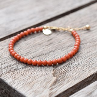 Su Shinan Red Agate Bracelet Original Natural United States Import 14k Gold Slender Full Color