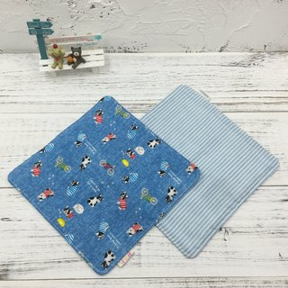 G24-soft soft gauze handkerchief (six-layer gauze) double-sided pattern denim fencing & denim lines