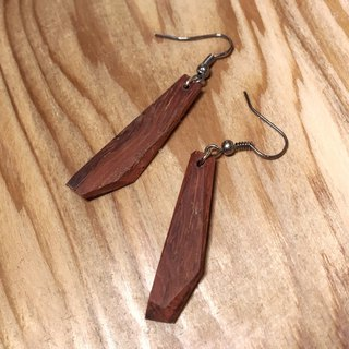 Past and Present - Old Wooden Draped Faceted Earrings