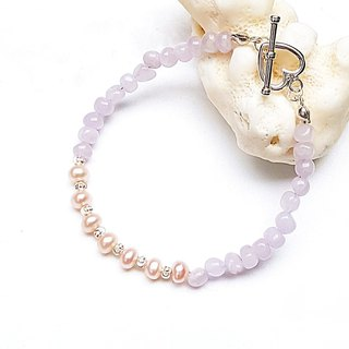 <Pet Series-Elegant> Pearl Amethyst 925 Sterling Silver Bracelet Customized