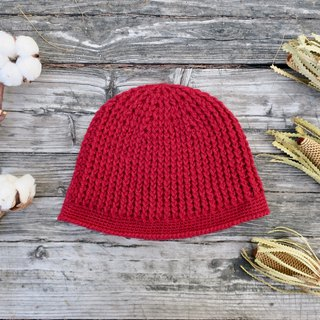 Mother's hand made hat - chestnut cap / wool cap / small red / Christmas / gift