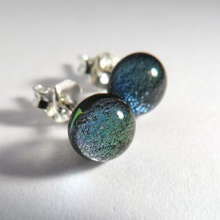 Jewelry glass ear silver ear / special color
