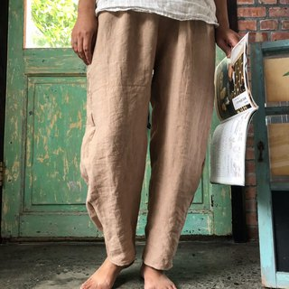 Autumn linen pants