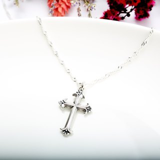 Iris Cross s925 sterling silver necklace Valentine's Day gift