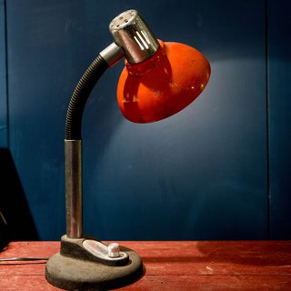SECLUSION OF SAGE / Classic - Red Hat Metal Table Lamp