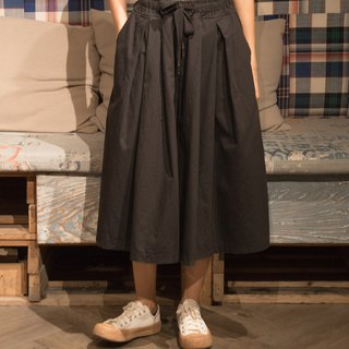 Wide pants skirt black