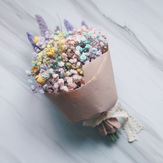Henflo Rainbow Popcorn Bouquet / Graduation Bouquet / Valentine's Day / Dried Flowers