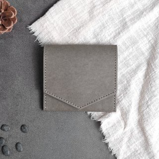 [Paper made possible] Plain simple n natural series paper made silver wallet