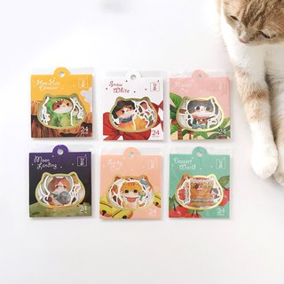 Racha Flower Cat Styling Sticker Pack (6 packs)