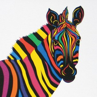 Painting illustrations Art Zebras zebra A4-k