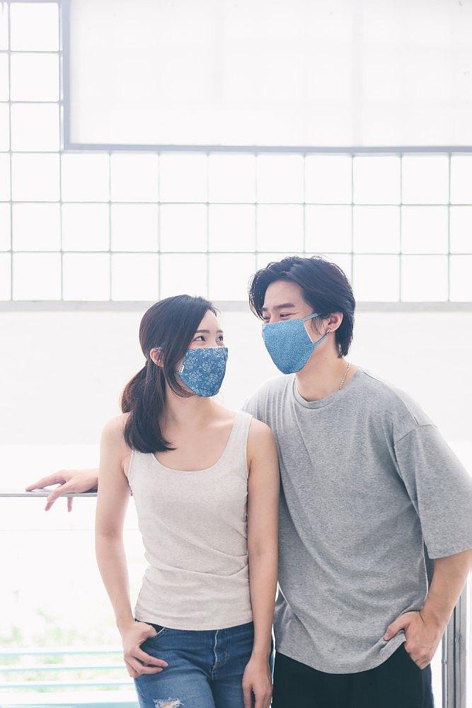Re-Mask x Giveco 冰感のVFE口罩   ICY Series   藍染印花斜紋