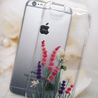 Pressed flower phone case, iPhone 6 plus, Elegant phone case ( 1 )