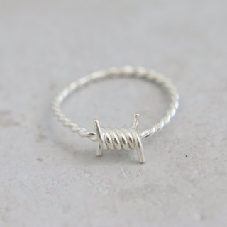 sterling silver ring twisting