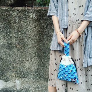 Beam mouth bag / Fuji blue