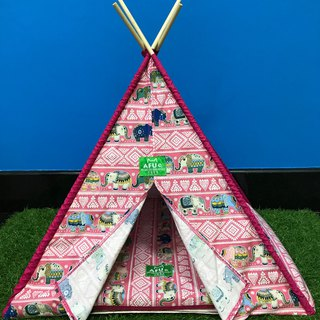 [AFU] Indian camping tent with sleeping mat (pink elephant)