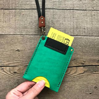 POPO│ Summer Green │ ID card sets. Business card sets │ leather