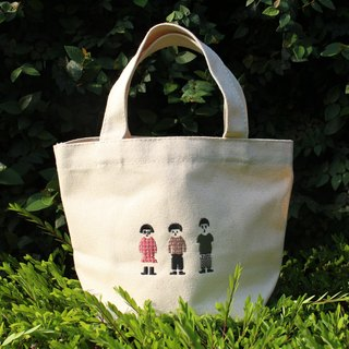 Wide bottom canvas bag - Embroidery Designer RAB
